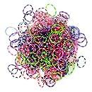 Jacks - Loom Bands - Recharge 250 Elastiques à Tisser à Pois