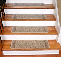 "Premium Carpet Stair Treads - Ludlow City Beige 31"" x 9"" (Set of 13)"