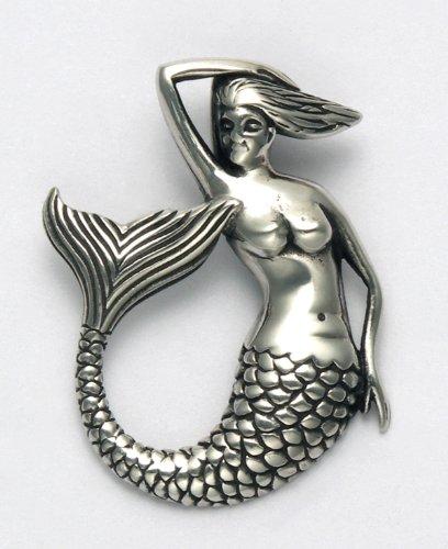 Sterling Silver Mermaid Pin