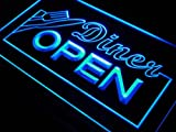 ADV-PRO-j718-b-Diner-OPEN-Knife-Fork-Cafe-Neon-Light-Sign
