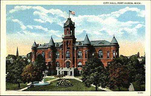 City Hall Port Huron, Michigan Original Vintage Postcard