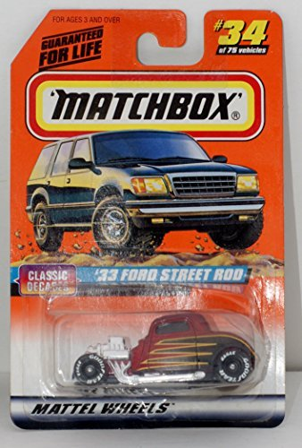 Matchbox 1997 Series 5 Classic Decades 1:58 33 Ford Street Rod #34 1:64 Scale - 1