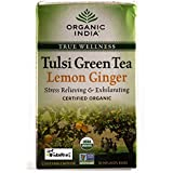 Organic India Organic Tulsi Green Lemon Ginger Tea (18 Tea Bags)