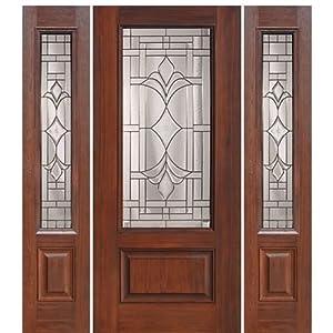Fiberglass Door 1 Panel 3 4 Lite Marsala 1 2 Glasscraft