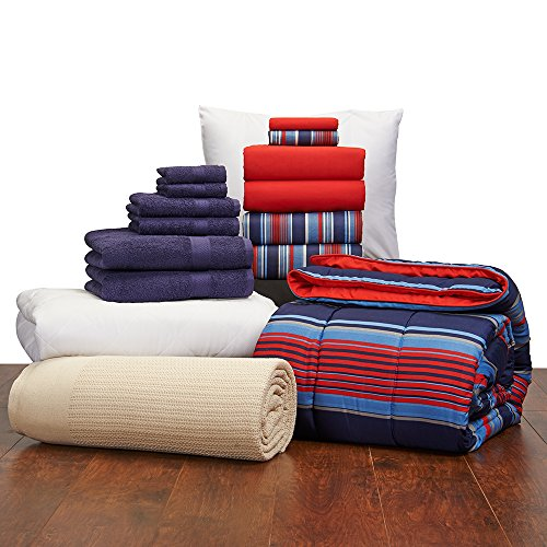 Guys Student Starter Pak College Dorm Bedding And Bath Set Part 79