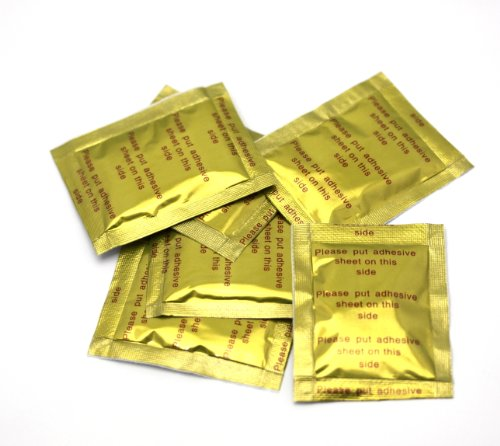 """100 x Fuß-Vitalpflaster """"Gold Edition"""" aus der fernöstlichen Naturheilkunde - Detox-Gold-Fußpflaster inkl. Bandage / Klebepflaster - Ideal für Körperentschlackung und -entgiftung"""