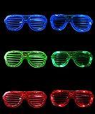 楽しい 光る サングラス LEDメガネ 【 3色 + 収納袋 セット 】 LED サングラス クリスマス パーティー 仮装 コンサート 発表会 豪華4点セット K186