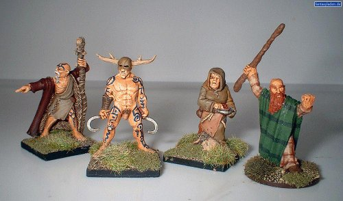 Pack Of 4 Celtic Druids Miniatures