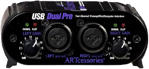 Art Usb Dual Pre Portable Stereo Preamp With Usb