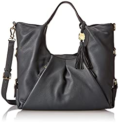 Vince Camuto Cris Shopper Leather Magnetic Shoulder Bag,Slate,One Size