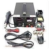 SAIKE 909D 3 in 1 rework station with hot air gun,SMD soldering iron repair welding station 220V