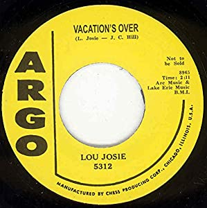 JOSIE, Lou Vacation's Over / Breezin' Out 45rpm