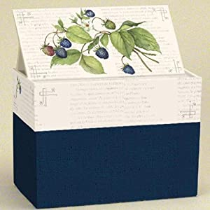 Lang Recipe Card Box with Recipe Cards, Blackberries