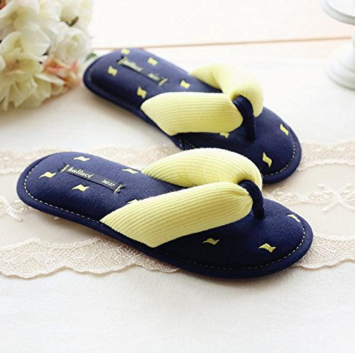 HH Coppie flip flop sudore-assorbente cotone impermeabile antiscivolo le pantofole . yellow . 36-37