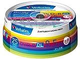 三菱化学メディア Verbatim DVD-R DL 8.5GB 1回記録用 2-8倍速 スピンドルケース 25枚パック ワイド印刷対応 ホワイトレーベル DHR85HP25V1 ランキングお取り寄せ