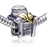 Cat And Sofa Bead Fit Pandora Charm Bracelet