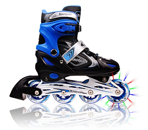 Lowest Prices! Adjustable Inline Skates for Kids, Featuring Illuminating Front Wheels, Awesome-looki...