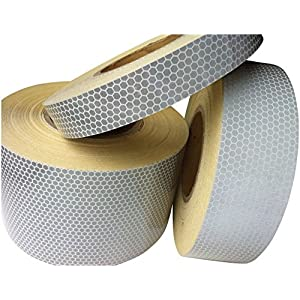 Hi Viz High Intensity White Reflective Tape 50mm x 3m