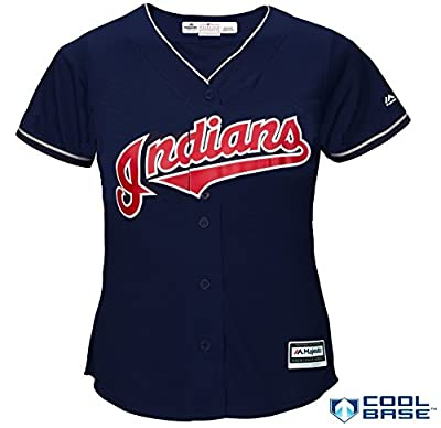 Cleveland Indians MLB Women's Cool Base Alternate Jersey Navy