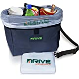 DRIVE Car Garbage Can - Best Auto Trash Bag for Litter, FREE Waste Basket Liners - Hanging Recycle Bin is Universal, Waterproof Organizer Makes a Great Drink Cooler & Road Trip Gift - 100% Guaranteed!