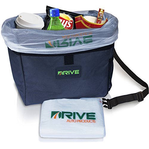 Drive car garbage can best auto trash bag for litter free waste basket liners hanging - Rd wastebasket ...
