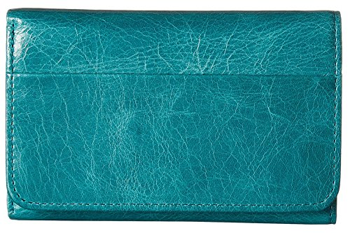 hobo-womens-leather-vintage-jill-tri-fold-wallet-teal-green