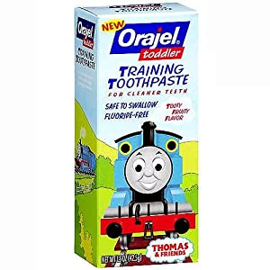 Orajel Toddler Training Toothpaste, Tooty Fruity Flavor 1.5 oz (44 g)