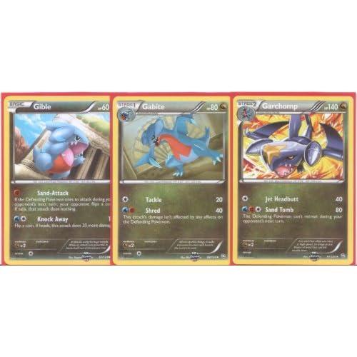 Amazon.com: Garchomp, Gabite and Gible - Rare Pokemon Card ...