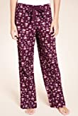 Pure Cotton Reindeer Print Pyjama Bottoms [T37-5582]