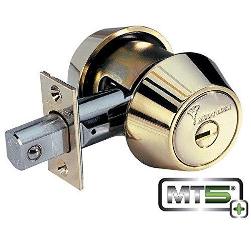 Mul-T-Lock Mt5+ Hercular Double Cylinder Deadbolt - Satin Brass