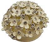 The Divine Luxury Hard-Anodized Aluminum Flowers Bouquet Jewelry Box (White, 1 cm x 1 cm x 1.8 cm)