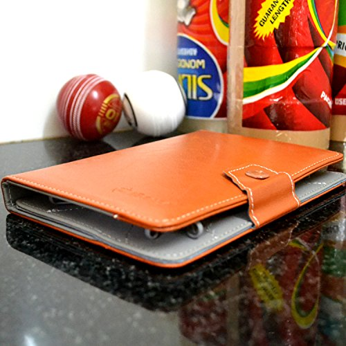 "NOVICZ 7 Inch PU Leather Tablet Flip Cover for Tab Carry Case Pouch Stand Universal 7"" Light brown"