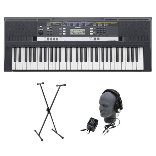 Yamaha Psr-E243 Premium Portable Keyboard Package With Headphones, Power Supply, And Stand