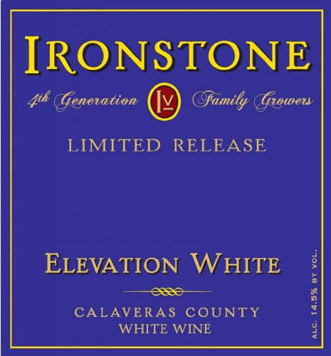 2011 Ironstone Limited Release, Elevation White, Calaveras County, White Wine 750 Ml