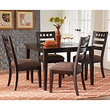 Standard Furniture Sparkle 5 Piece Dining Room Set In Brown Cherry