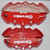 Set Of 4 3d Red Brembo Style Rearfont Universal Brake Caliper Cover For Mazda Vw Benz Audi Bmw from Shopping Mecca