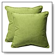 Decorative Green Solid Square Toss Pillows