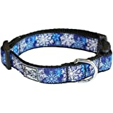 RC Pet Products 1-Inch Adjustable Dog Clip Collar, 15 to 25-Inch Width, Let it Snow, Large