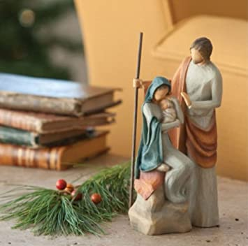#!Cheap Willow Tree by Demdaco The Holy Family Figurine