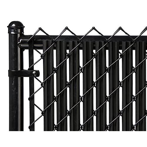 6ft Black Ridged Slats™ for Chain Link Fence