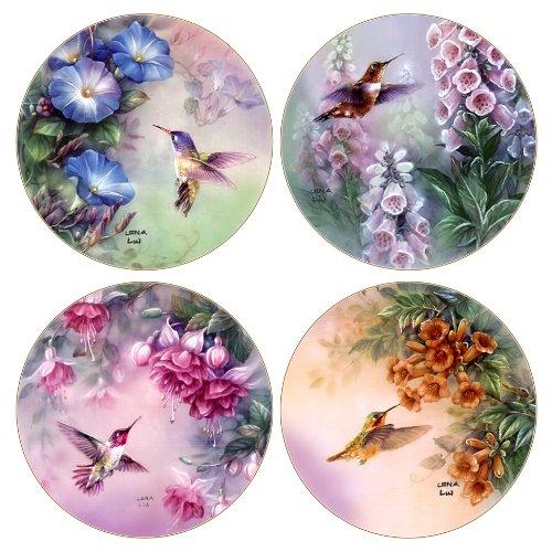 Absorbent Hummingbird Coaster Set