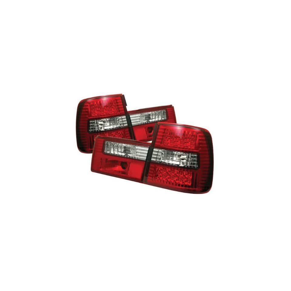 Redlines TL BE3488 LED RC Red/Clear Medium LED Tail Light for BMW E34 5 Series 88 95   Pair