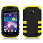 [SlickGearsTM] Premium Dual Layer Protective Shell Case for Samsung Galaxy Proclaim S720C (Straight Talk) (Black/Yellow Skin)