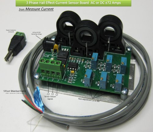 ±70 Amp 3 PHase Current Sensor (three channels)