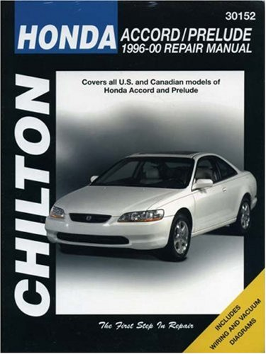 Honda--Accord/Prelude: 1996-00 (Chilton's Total Car Care Repair Manual)