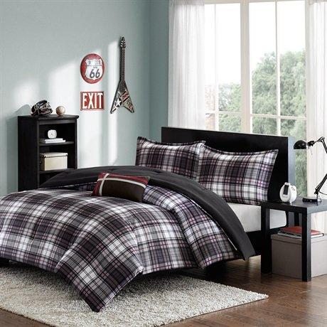Mizone Harley Comforter Set - Black - Full/Queen front-358720