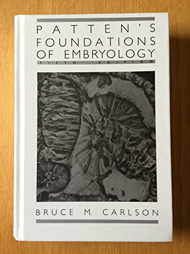Patten's Foundations of Embryology PDF
