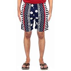 Aaduki Men's Cotton Shorts_Blue_XXL