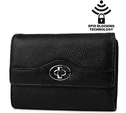 10. Mundi Small Womens RFID Wallet Trifold | Safe Blocking Protection | Change Purse