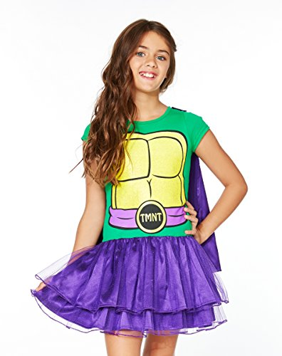 Spirit Halloween Kids' TMNT Donatello Tutu Dress Costume - Teenage Mutant Ninja Turtles (Girls Ninja Turtle Costume compare prices)